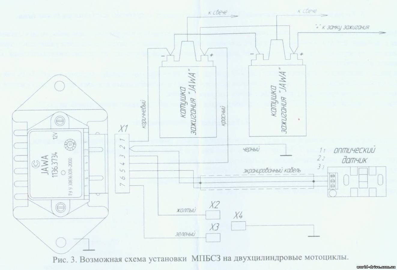 схема включения кнопки зажигания бензопилы урал мб 1