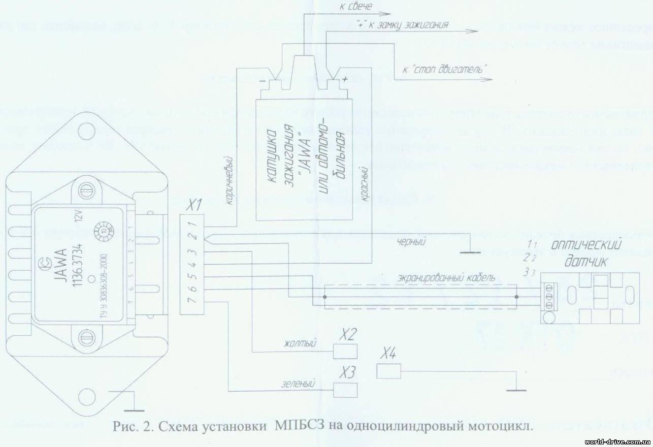 явовская бабина схема проводки